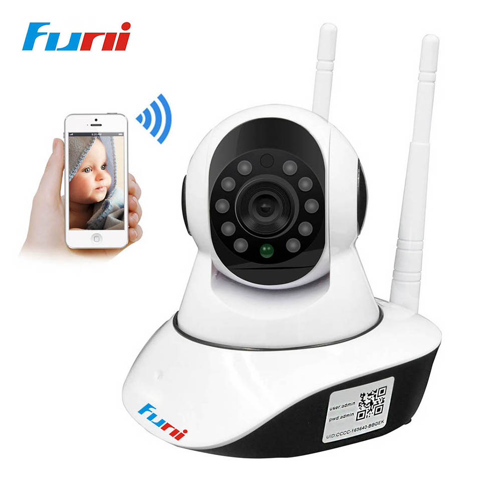 Funi 720P IP Camera Wi-fi Home Security ONVIF P2P Cloud Night Vision Indoor Baby Monitor CCTV Surveillance Camera 1MP IP Camera<br>