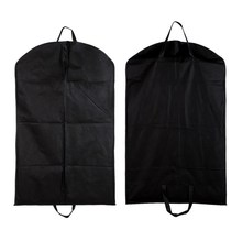 1pc Black Dustproof Hanger Cover Storage Bags Coat Clothes Garment Suit Dust Cover Dust Bags Storage Protector Organization(China)