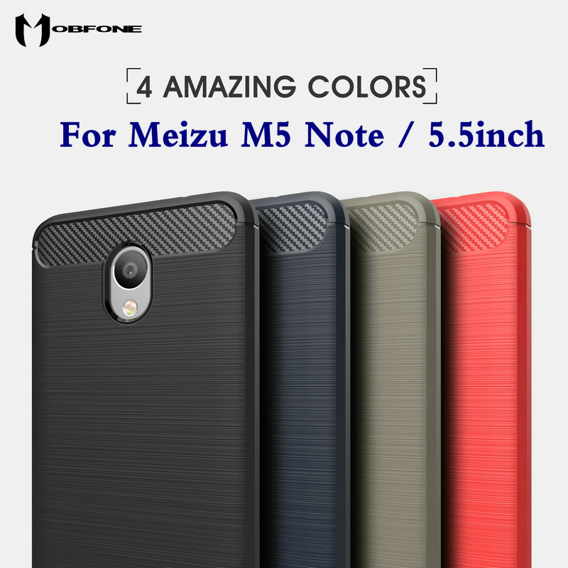 Luxury Hybrid Slim Armor Case Meizu M5 Note 5.5' Carbon Fiber Texture Brushed Silicone Soft Gel Back Cover Fundas Coque Capa