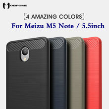 Luxury Hybrid Slim Armor Case Meizu M5 Note 5.5' Carbon Fiber Texture Brushed Silicone Soft Gel Back Cover Fundas Coque Capa
