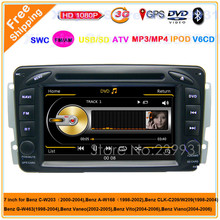 Car Head Unit Sat Nav DVD Player for Mercedes Benz C-Class W203 2000-2004 with GPS Navigation Radio Stereo System IPOD Free map