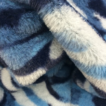 Camouflage Print Faux Fur Fashionable Dress Cushion Toy Sewing Material Polyester PV Fur Artificial Wool Fabric
