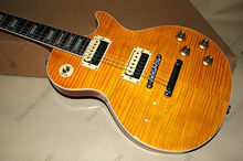The best LP guitar makers cut tiger stripes can customize the guitar EMS free shipping