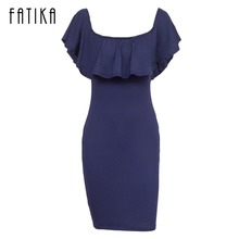 Buy FATIKA Elegant Green Blue Red Ruffle Dress Womens Clothing Summer Dresses Women Sexy Dresses Shoulder Bodycon Dress for $10.82 in AliExpress store
