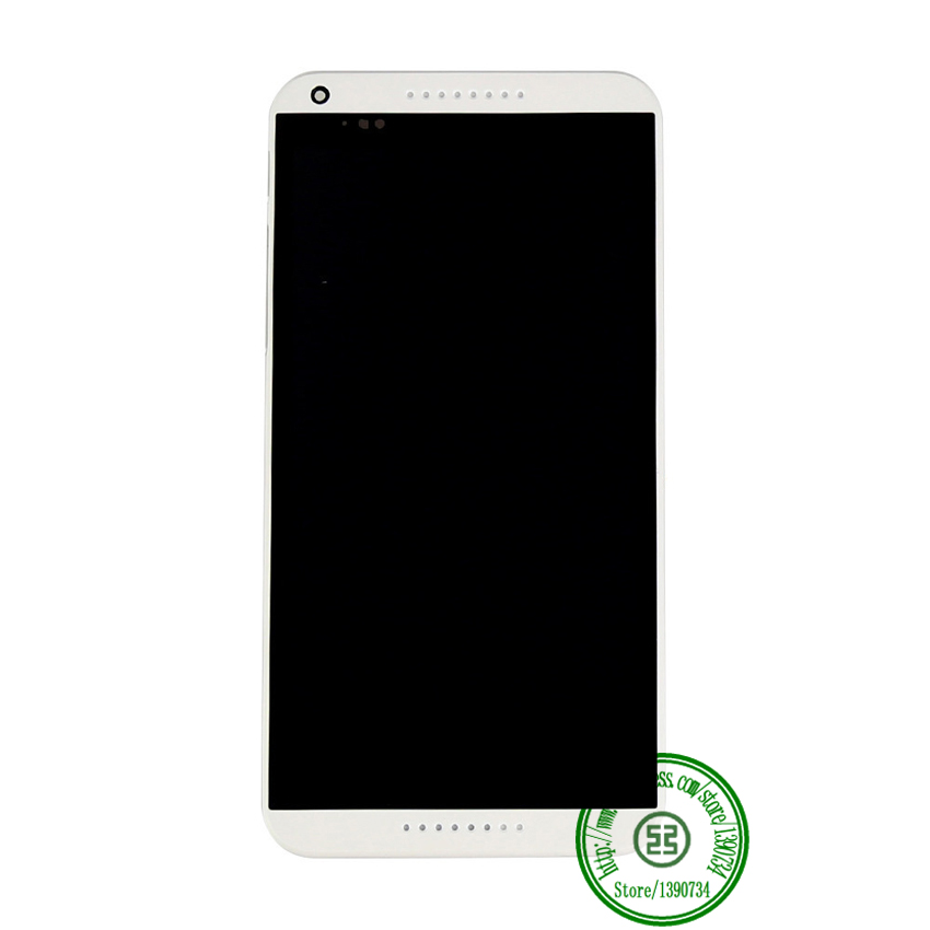 TOP Quality White Color Full LCD Display Touch Screen Digitzer Assembly + Bezel Frame For HTC Desire 816 816W D816x Replacement<br><br>Aliexpress
