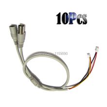Gray 10Pcs Power Video Cable BNC and DC Connector for CCTV Cameras PCB Board
