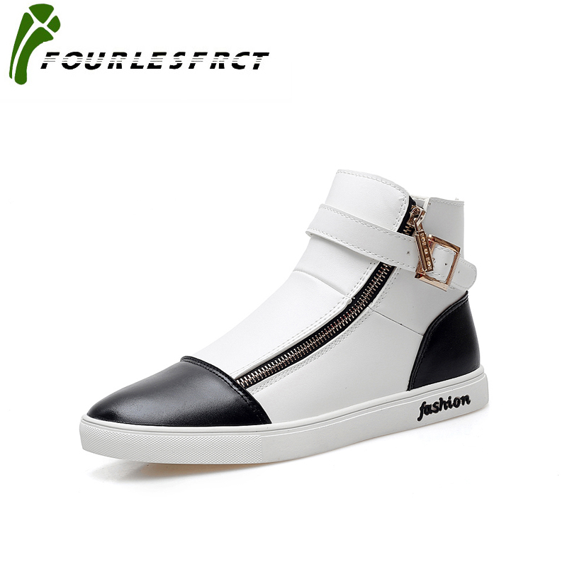 2017 New Spring Man High Top Casual Shoe Fashion Leisure Sign of High Quality PU Vice Versa Leisure Mens Casual Shoes Size 39-45<br>