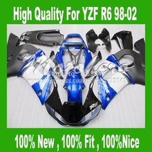 7Gifts+ fairings for Yamaha YZF R6 98 02 YZF-R6 98 99 00 2001 2002 YZF 600 R6 1998 1999 2000 01 02 #33 Blue white black fairings