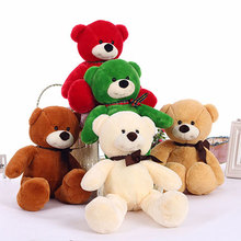 38CM Soft Teddy Bears Plush Toys Stuffed Animals Bear Dolls with Bowtie Kids Toys for Children Birthday Gifts Party Decor(China)