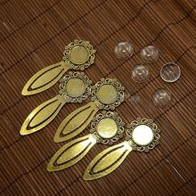 18mm Clear Domed Glass Cabochon Cover for Antique Golden DIY Alloy Portrait Bookmark Making, Cadmium Free & Nickel Free & Lead