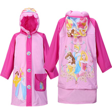 Impermeable Children Raincoat Baby Boys Rain Capes Ponchos Long Nylon Waterproof Fabric Rain Jacket Girls Cartoon Rainsuit Kids
