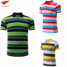 2017 Men cottto Sportswear badminton T shirt Volleyball Golf table tennis shirt soccer jerseys POLO Shirts Quick Dry breathable(China)
