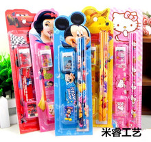 Girls gift stationery set child gift pencil case primary school students prize Cute Candy Color Stationery  school supplies
