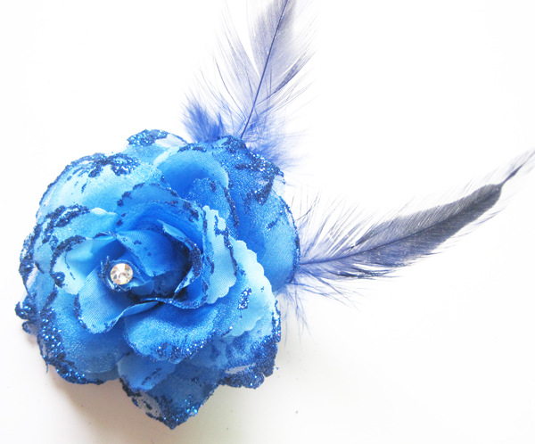 2017 Hot Sale Dark Blue Hair Clip Bride Small Rose Flower Headband New Wedding Floral Garland Hair Band Headbands Accessories(China (Mainland))