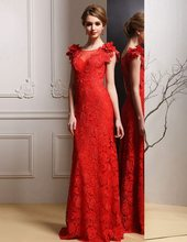 michael indian saree Formal crystal flowers red lace evening party gown  robe de soiree courte long mother of the bride dresses b6994d6c1d3f