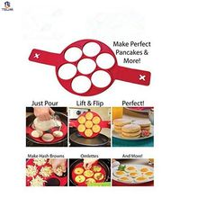 Silicone Mold Non Stick Flippin' Pancake Maker 7 Cavity Egg Maker Pastry Tools Fried Eggs Form Silicon Frying Pan For Eggs.