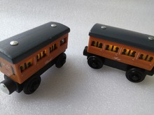 RARE light Annie & CLARABEL Original Thomas And Friends Wooden Magnetic Railway Model Train Engine Boy / Kids Toy Christmas Gift(China)