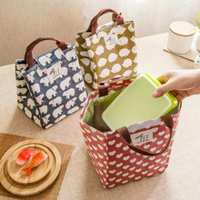 Thermal Picnic Handbag Waterproof Lunch Box Bag For Kids Students Women Insulation Package Animal Printed Tote