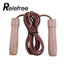 Buy Hot Leather Skipping Rope Speed Jumping Ropes Fitness Equipment Adjustable Weighted Boxing Gym Exercise Workout Wooden Handle for $12.25 in AliExpress store