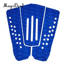 MagiDeal High Quality 3Pcs / Set Blue EVA Tail Pads Surfboard Deck Grips Traction Surfing Mat Boayboard LongBoard Surf Accessory(China)