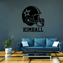 4048 American Football Helmet Wall Stickers Home Decor Boys Bedroom Sports Poster for Kids Room Decorative Vinyl Brand Wallpaper