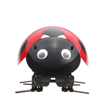 Finished Intelligent Robot Ladybug Toys Educational Electronic insect Wireless Remote Control RC Vehicles Racing Crawlers(China)