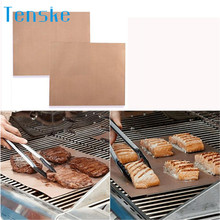 New Kitchen Copper Chef Grill and Bake Mats Outdoor BBQ Tools 2Pcs/Pack Drop shipping4.24/25%(China)
