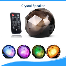 Bluetooth Speaker LED Light Magic Crystal lighting Small Ball Speaker with Remote Control Wireless for Outdoor Home Party