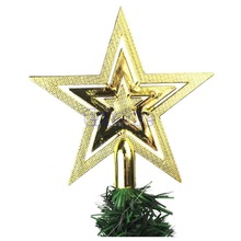 Cute Xmas Christmas Star Tree Topper For Home Party Holiday Ornament Decoration