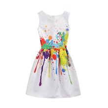 Birthday Party Dress Kids New Summer Spring Dress For girl Clothes Princess Baby Girls Party Children's Formal dresses LH2-M