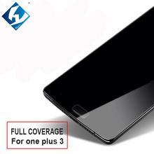 10PCS/LOT 5.5inch Full Coverage Tempered Glass Film For Oneplus Three 1+3 One plus 3 Screen Protector Film Front Guard Cover(China)