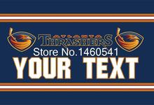 Atlanta Thrashers Custom Your Text Flag 3ft x 5ft Polyester NHL Team Banner Flying Size No.4 144* 96cm QingQing Flag Super Fan(China)