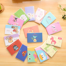 Plastic Cover Mini Portable Notebook Cute Cartoon Animals Bear Little Girl Superhero 80K Notepad Diary Book Students Gift