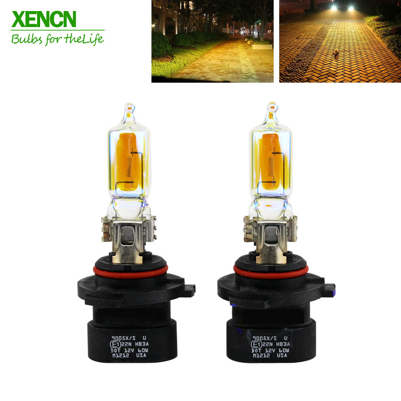 XENCN HB3A 9005XS 12V 60W 2300K Golden Eyes Super Xenon Yellow Automotive Car Headlights Fog Lamp