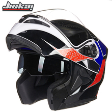 New Arrival Dual Lenses Flip Up Motorcycle Helmet Aerodynamic Design Motocross Racing Protective Casco Moto Street Riding