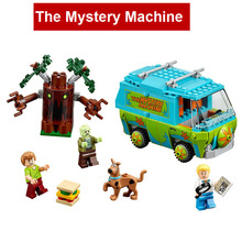 Superwit New Bela 10430 Scooby Doo The Mystery Machine Bus Building Blocks Compatible Lepin 75902 Figure Brick Toy For Children