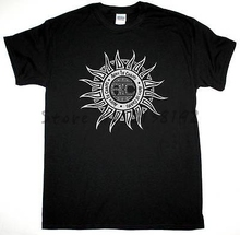 ALICE IN CHAINS SUN LOGO GRUNGE SEATTLE ALTERNATIVE NEW BLACK T-SHIRT men's top tees