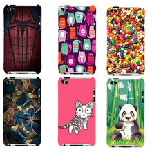 Touch 4 Cover,Original Plastic Printed Cartoon Phone Case For Apple iPod Touch 4 Back Cover Printing Drawin Fashion Phone Cases(China)
