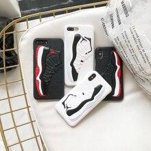 US Fashion Street Trend 3D Shoes Air Jordan Cases iPhone 8 7 6s 6 Plus X XS Max XR Jordan Dunk Phone Cover Funda Coque