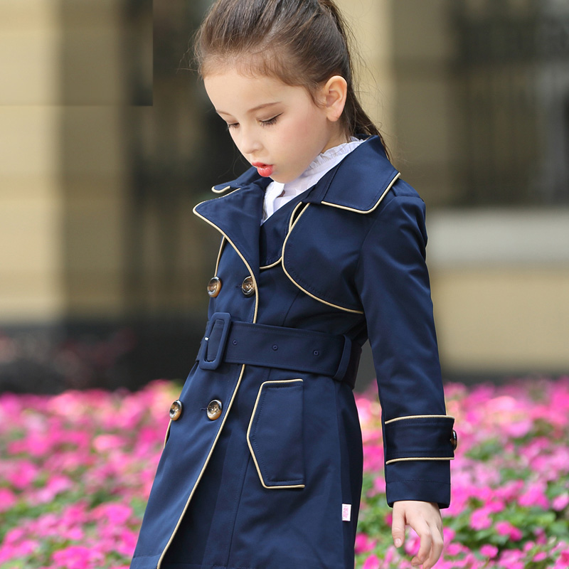 Big girls spring Windbreaker coat autumn new girls Korean childrens long trench<br>