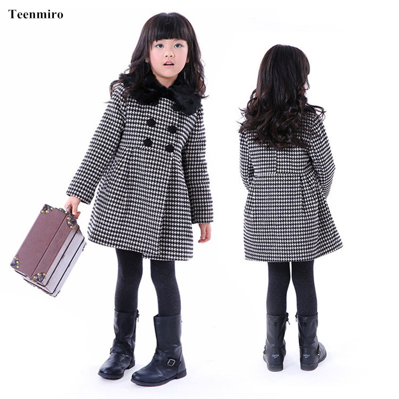 2018 Childrens Woolen Clothing Long Jacket Coat Winter Thicken Wool Outwear Jackets For Girls Kids Clothes Outwear Coats Parka<br>