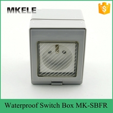 MK-SBFR PVC material low price hot sell electrical wall switch box, IP65 waterproof socket from China manufacturer(China)