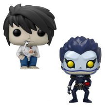 Death Note L Ryuuku Ryuk Death Note Action Figure Q-version Lyuuku 10cm Toy Doll Anime Bobble Head Q Edition For Car Decoration