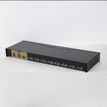 Charmvision UK801R 8 ports KVM switch USB computer switcher rack mounted 4 USB 2.0 simultaneously remote control 8 pcs kvm cable(China)