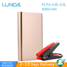 LUNDA Multifunction Portable 8000 MA Mini Starter Car Battery Car Jumper Start Engine Up To 2.0 L Car(Hong Kong)