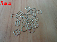 8mm Plated Lingerie Hardware Sewing Clips Clasp Hooks Bra Strap Metal Bra strap Adjustment Buckle Rings Slides Hooks