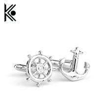Free shipping Hot Fashion Popeye the Sailor man Cuff links vintage anchor Cuff links rudder Men Women Cufflinks Jewelry