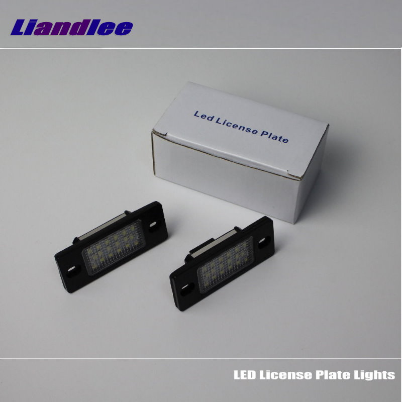 Liandlee For Skoda Fabia 1999~2014 / Yeti 2009~2013 / LED Car License Plate Lights / Number Frame Light / High Quality LED Lamp<br>