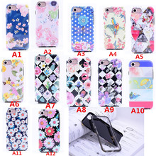 TPU+PC Summer Luxury Soft Cartoon bird Case for iPhone 7 Case Beautiful Colorful Flower Phone Cases for iPhone 6 Cover Capa
