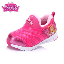 Disney Princess Light Red Rubber Kids Casual Shoes Mesh Breathable Outsole Spring Girls Shoes Size28-33 ds0905(China)